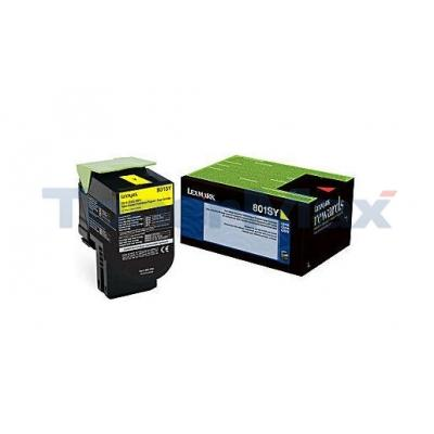 LEXMARK CX510 TONER CARTRIDGE YELLOW RP 2K